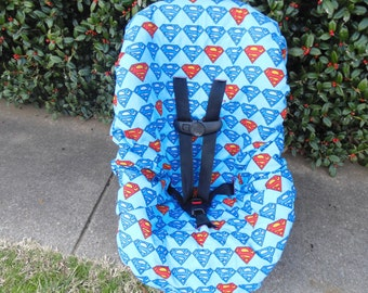 Superman toddler car seat cover