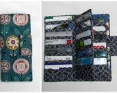 Card Organizer Wallet, Gift Card Holder, Card Holder, Loyalty Card Organizer, women's wallet 38 slots, Nearby Floral Business Card wallet