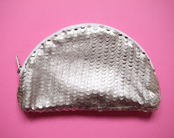 Silver Scale leather purse