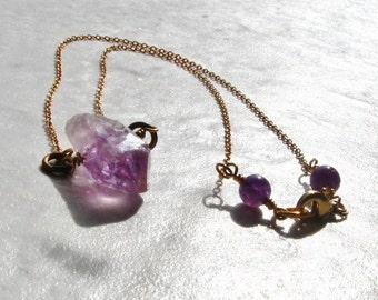 Light Purple Natural Amethyst Necklace