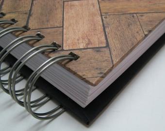 Wedding Guest Book Alternative/Wedding Keepsake/ Rustic Guest Address Book/ Wedding Guest Address Book/ Guest Book Idea/ Wooden Chevron