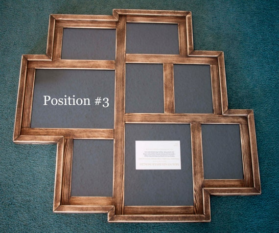 collage picture frame multi 8 opening distressed rustic collage picture frame with 2 8x10 39 s. Black Bedroom Furniture Sets. Home Design Ideas