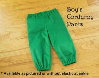 BOYS Corduroy Bloomer Bubble Pants Straight Leg Britches Pantaloons for Baby Boys in YOUR CHOICE of colors - 6 months to size 8