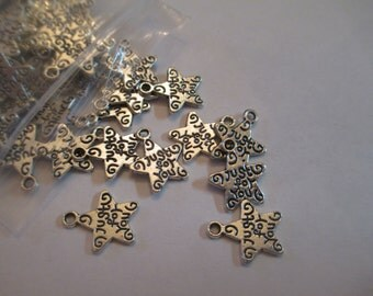 20 Just for You Star Charms Jewelry Making Supplies Jenuine Crafts
