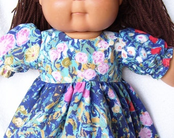 Cabbage Patch Doll Clothes, Painted Garden Dress Set,fits 16inch to 18inch Baby Dolls