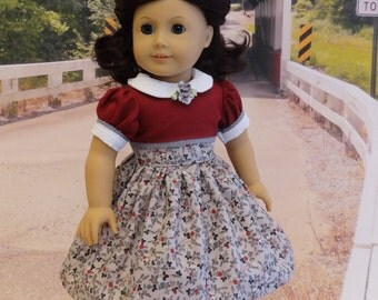 Frosted Autumn - vintage style dress for American Girl