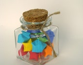 READY TO SHIP - Glass Jar of Rainbow Origami Lucky Stars