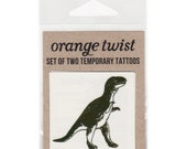 T-Rex Temporary Tattoos --Set of Two