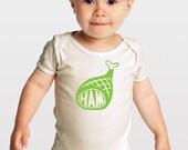 Green Ham -- Organic Cotton Baby One-Piece