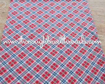 Preppy Plaid - Vintage Fabric Full Feedsack 50s 60s Novelty