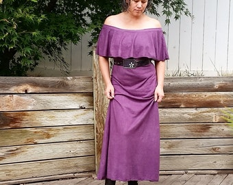 Prairie Rose off shoulder maxi (hemp/organic cotton)
