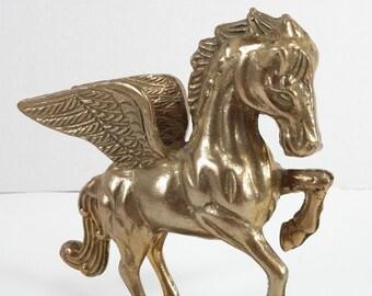 Vintage golden pegasus wing horse pegasus statue pegasus figurine