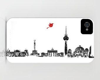 Berlin City Skyline on Phone Case - iPhone 5S, Samsung Galaxy S6, iPhone 5C, iPhone 6S, iPhone 6 Plus, City Gifts, Germany, city skyline