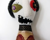 Fiona - a one of a kind zombie rag doll