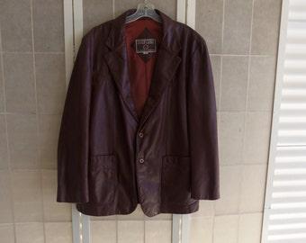 Vintage Shepler's Men's Brown Leather Jacket, Size 46