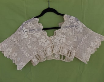 Antique 1900's Crocheted Bridal Top