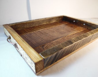 Serving Tray Reclaimed Wood Serving Tray Lodge Decor Bed & Breakfast