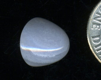 """BLUE LACE AGATE One 10x8mm """"Bullet Dome"""" Cabochon A grade natural color"""