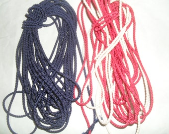Cord Cording in Black Tan and Red Jewelry