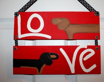 Dachshund Door Decoration LOVE