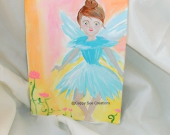 Fairy portrait painting small original art