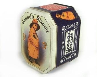 Uneeda Biscuit Tin, Vintage Advertising