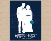 Gifts for Her, Paper Anniversary, Wedding Silhouette, Newlywed Gift, Unique Wedding Gift, Anniversary Gift, Gifts for Him // W-G16-1PS AA3