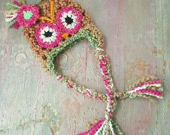Newborn crochet owl hat, newborn Halloween costume,baby owl costume,newborn owl prop, baby girl owl hat, baby boy crochet owl hat.