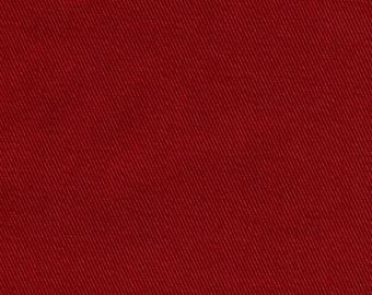 60 Inch Wide ORGANIC Cotton Twill Fabric CHILI PEPPER Red Medium Weight