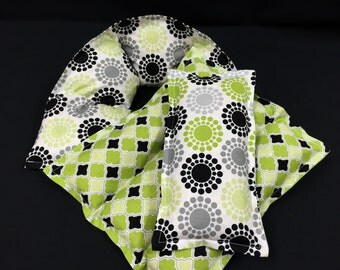 Corn Bags, Heating Pad, Spa Relaxation Set, Microwave Heat Pack, Massage Therapy, Gift For Her, Pregnancy Gift, Get Well Gift, Green