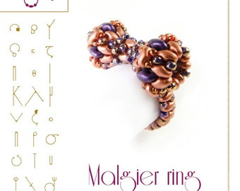 Beading bracelet tutorial / pattern Malgier ring... PDF instruction for personal use only
