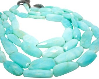 Peruvian Opal Beads, Blue Opal, Faceted Nuggets, Wholesale Peruvian Opal, Peruvian Opal, SKU 4281A