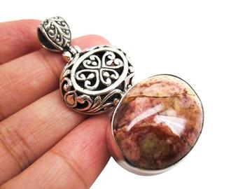 Mookaite Silver Pendant, Sterling Silver Mookaite, Mookaite Pendant, Handmade in Bali, SKU 3802