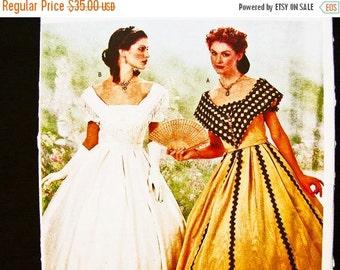 Sewing Pattern SALE Historical Civil War Dress Pattern Butterick Misses size 12 14 16 UNCUT Womens Civil War Renactment Ball Gown Sewing Pat