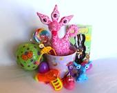Easter Basket SMALL, Adopt an Alien Easter Basket, Easter Basket Toys for Girls, Alien Easter Toys by Adopt an Alien