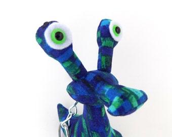 Alien Keychain, Cute Keychain, Monster Keychain, Weird Keychain, Zipper Pull, Backpack Buddy by Adopt an Alien named Iggy