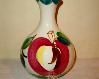 PURINTON Carafe APPLE Pattern Rare USA Slip Decorated Pottery Vintage Pitcher Bottle