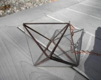 Angular Hanging Glass Terrarium