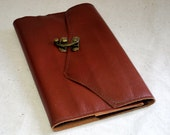 2017 Orange Leather Planner with Latch- Refillable