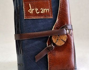 Small Dream Leather Journal with Recycled Paper