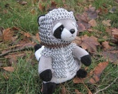 Chainmail-Clad Raccoon Stuffed Animal