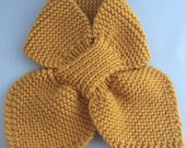 Mini Bow Scarf - Mustard ...
