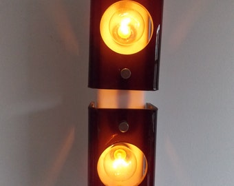 vintage 1970s wall lamp / retro 70s wall light fixture/ Space Age wall Sconce /Dutch design Raak