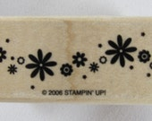 Stampin Up! - Flower Border Rubber Stamp #RS130