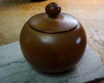 Japanese turned pear wood box
