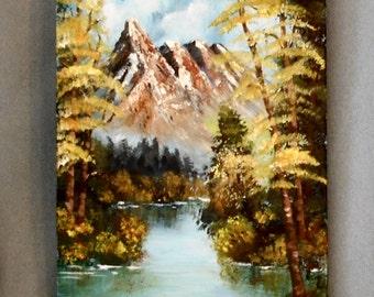 Mountain Stream Study Original Painting