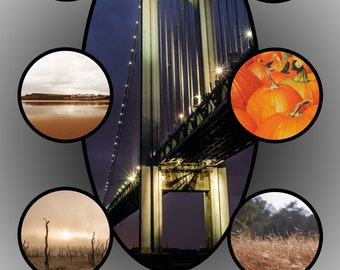 5X7 Photo Collage Template #3