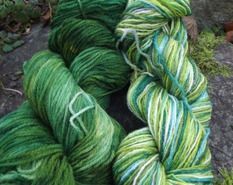 Handpainted sock yarn, shawl kit  fingerling yarn, Superwash Merino Wool 150 grams-Venomous Tentacula