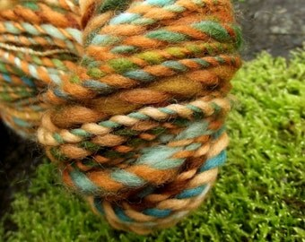 Handspun yarn, handpainted hand dyed yarn 2 ply yarn, worsted multiple skeins available-Gnome