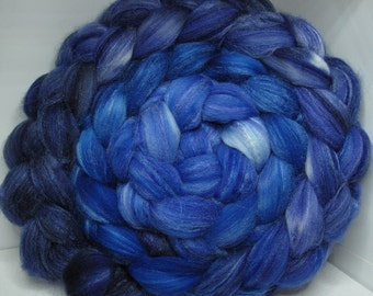 Organic Polwarth/Bombyx 80/20 Roving Combed Top 5oz - Mystic 2